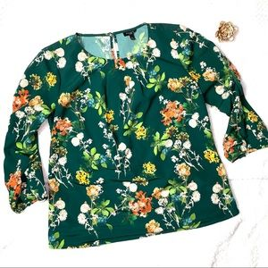 Talbots Floral Blouse